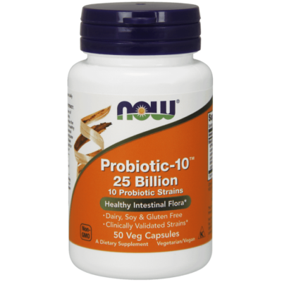 Now Foods Probiotikum 25 Mill, 50 db - Probiotic-10™ 25 Billion - 50 Veg Kapszula