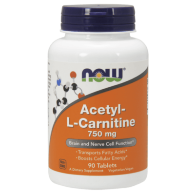 Now Foods Acetyl-L Carnitine 750mg 90 tabl.