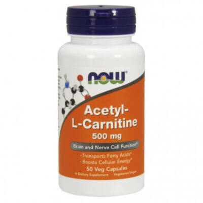 Now Foods Acetyl-L Carnitine 500mg 50Vcaps