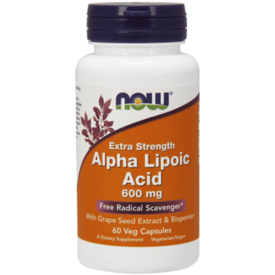 Now Foods Alpha Lipoic Acid 600mg 60Veg Caps