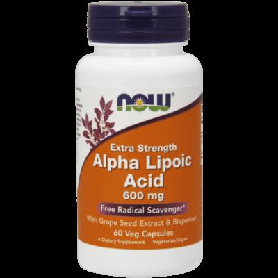 Now Foods Alpha Lipoic Acid 600mg 60Veg Caps