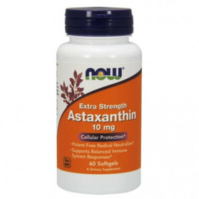 Now Foods Astaxanthin Extra Strength 10 mg - 60 Softgels