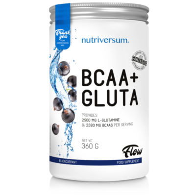 Nutriversum BCAA+GLUTA - FLOW -  feketeribizli 360 g