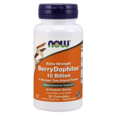 Now Foods BerryDophilus™ 10 Billion Extra Strength - 50 Chewables