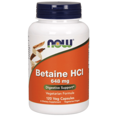 Now Foods Betaine HCl 648 mg - 120 Veg Capsules