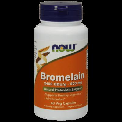 Now Foods Bromelain 500 mg - 60 Veg Capsules