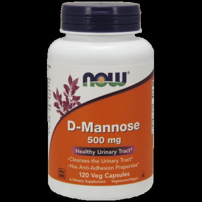 Now Foods D-Mannose 500 mg 120 kapszula