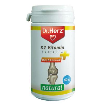 Dr. Herz K2-vitamin + D3 + Kalcium kapszula 60db