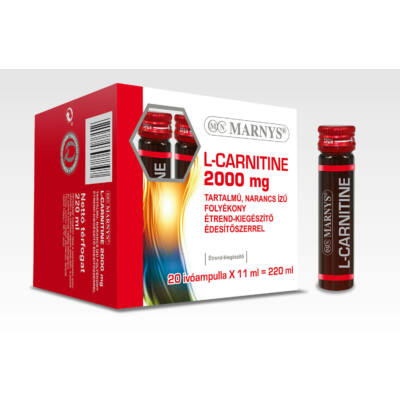 MARNYS® L-CARNITINE 2000 mg TARTALMÚ, NARANCS ÍZŰ