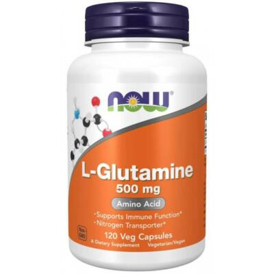 NOW L-Glutamine 500 mg - 120 Capsules