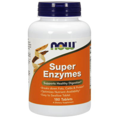Now Foods Super Enzymes - 180 Tablets