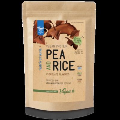 Pea & Rice Vegan Protein - 500g - VEGAN - Nutriversum- több ízben