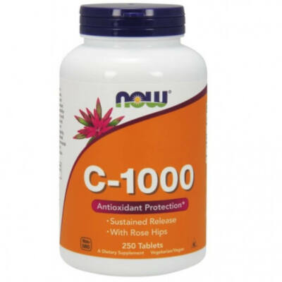 Now Foods C-1000 Sustained Release - 250 Tablets