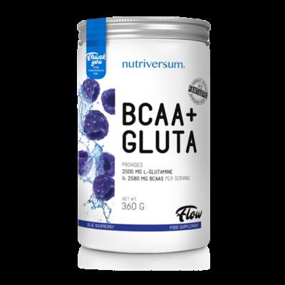 Nutriversum BCAA+GLUTA - FLOW -  kék málna 360 g