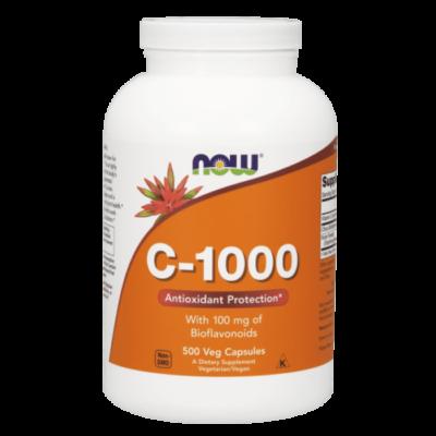 Now Foods C-vitamin 1000 mg, bioflavonoiddal és rutinnal 500 kapszula