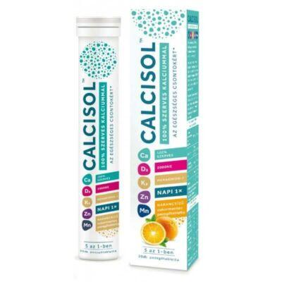 Calcisol 100% szerves kalcium+D3+K2+Zn+Mn pezsgőtabletta 20db (Norvég)