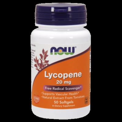 Now Foods Lycopene 20mg 50 Softgels