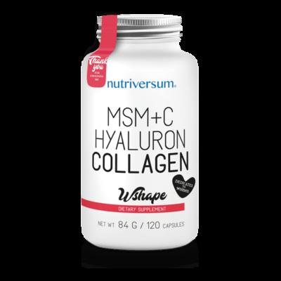 Nutriversum MSM+C Hyaluron Collagen - 120 kapszula - WSHAPE