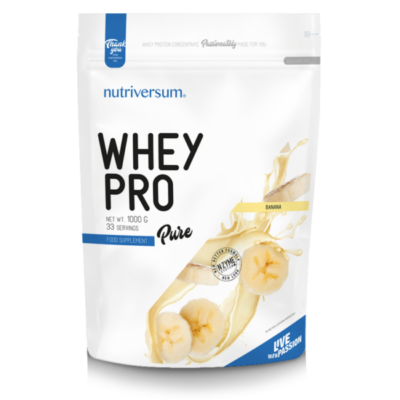 Nutriversum Whey PRO - PURE - banán 1000 g